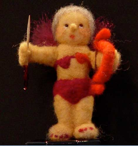 NEEDLE FELTED CUPID