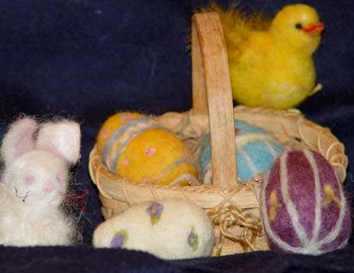 NEEDLE FELTED EASTER COLLECTION