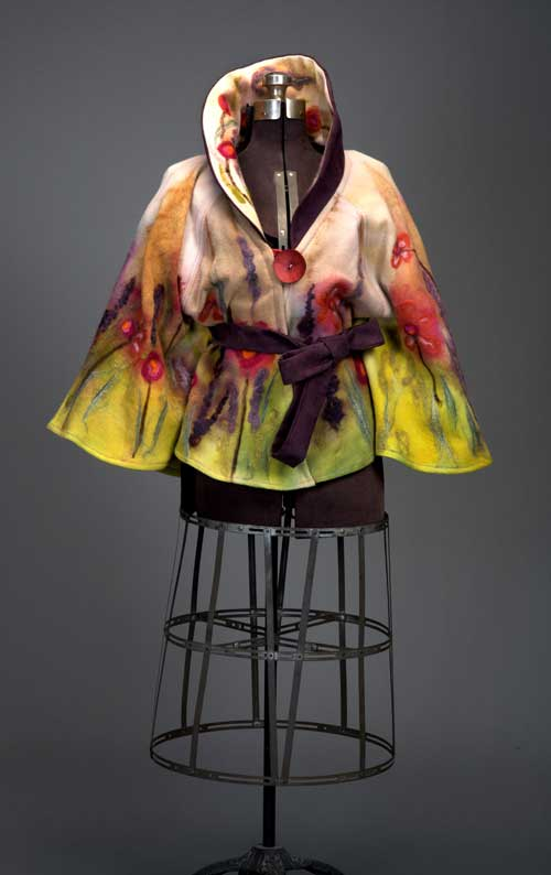 One-of-A-Kind Jacket with Felted Surface Design