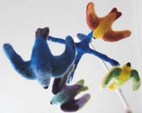 Needle Felted Baby Mobile