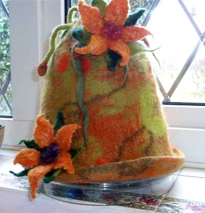 Felted Flower Hat