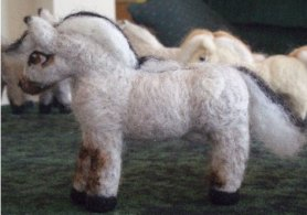 FELTED FJORD HORSES