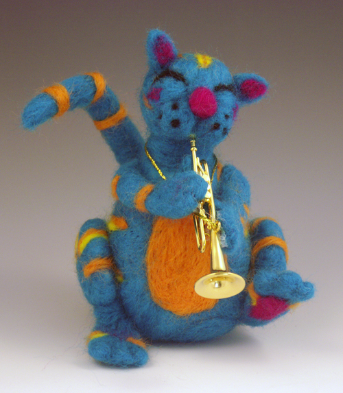 NEEDLE FELTING: Jazz Cat