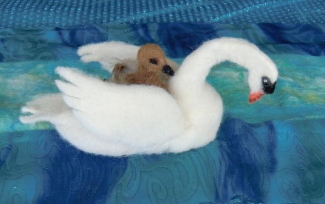 Needle Felting Fun: Needle Felted Swans