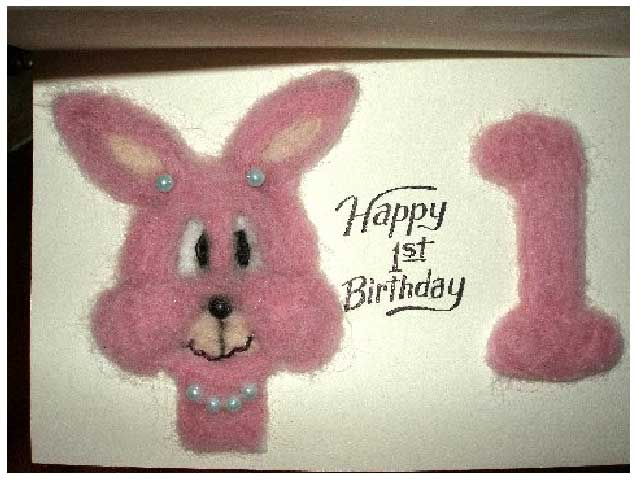 Needle Felted Birthday Card