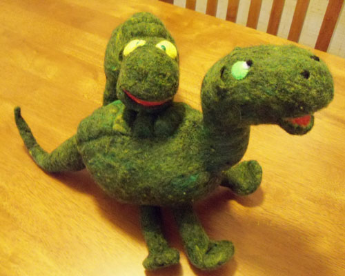 Needle Felted Animals - Dino