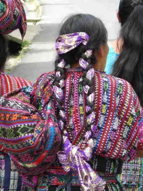 Traditional braids worn in Guatemala