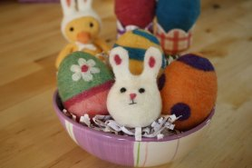 needle felted bunny tutorial easter felting project