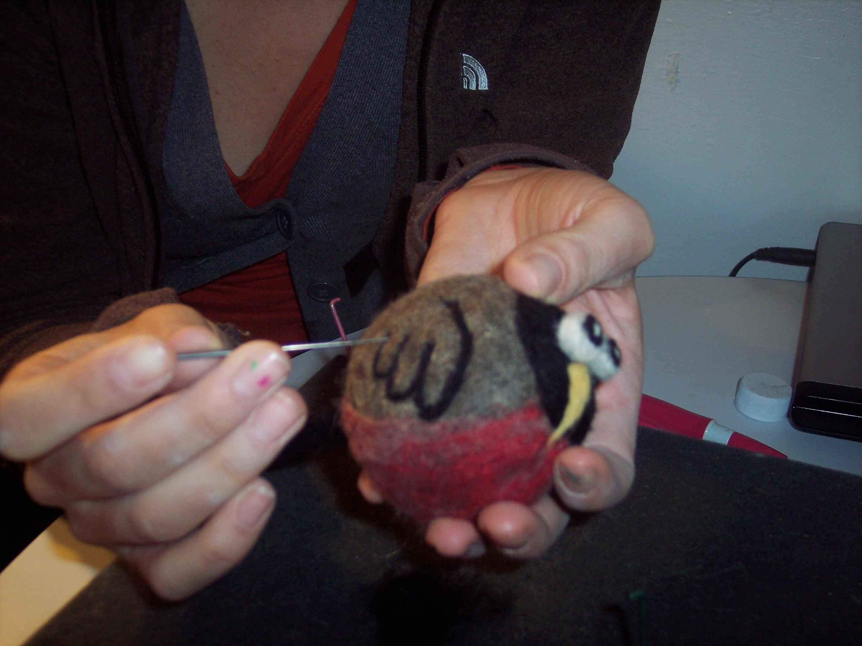 Felting tutorial wet needle felting round robin living felt blog baditri Images
