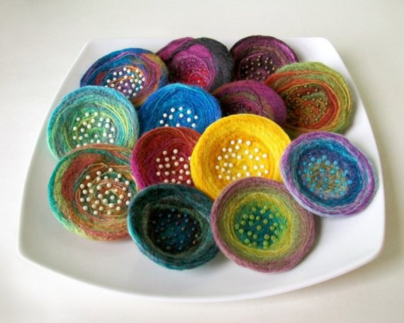Elegant and Unique Felted Jewelry – by Liz Smith