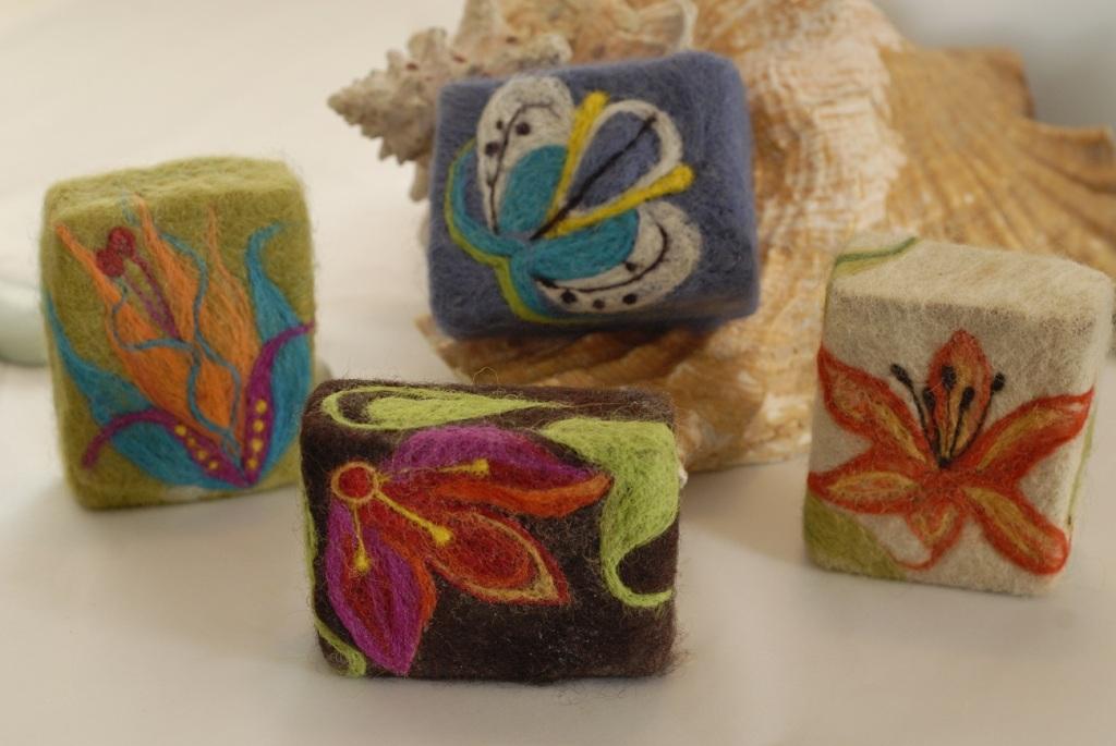 needle felting on soap | LIVING FELT Blog!