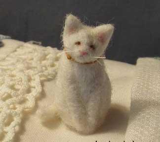 Tiny Needle Felted Kitty Living Felt Blog