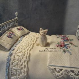 Miniature OOAK Needle Felted Cat