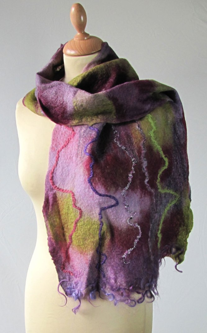 Felted Wool Scarf