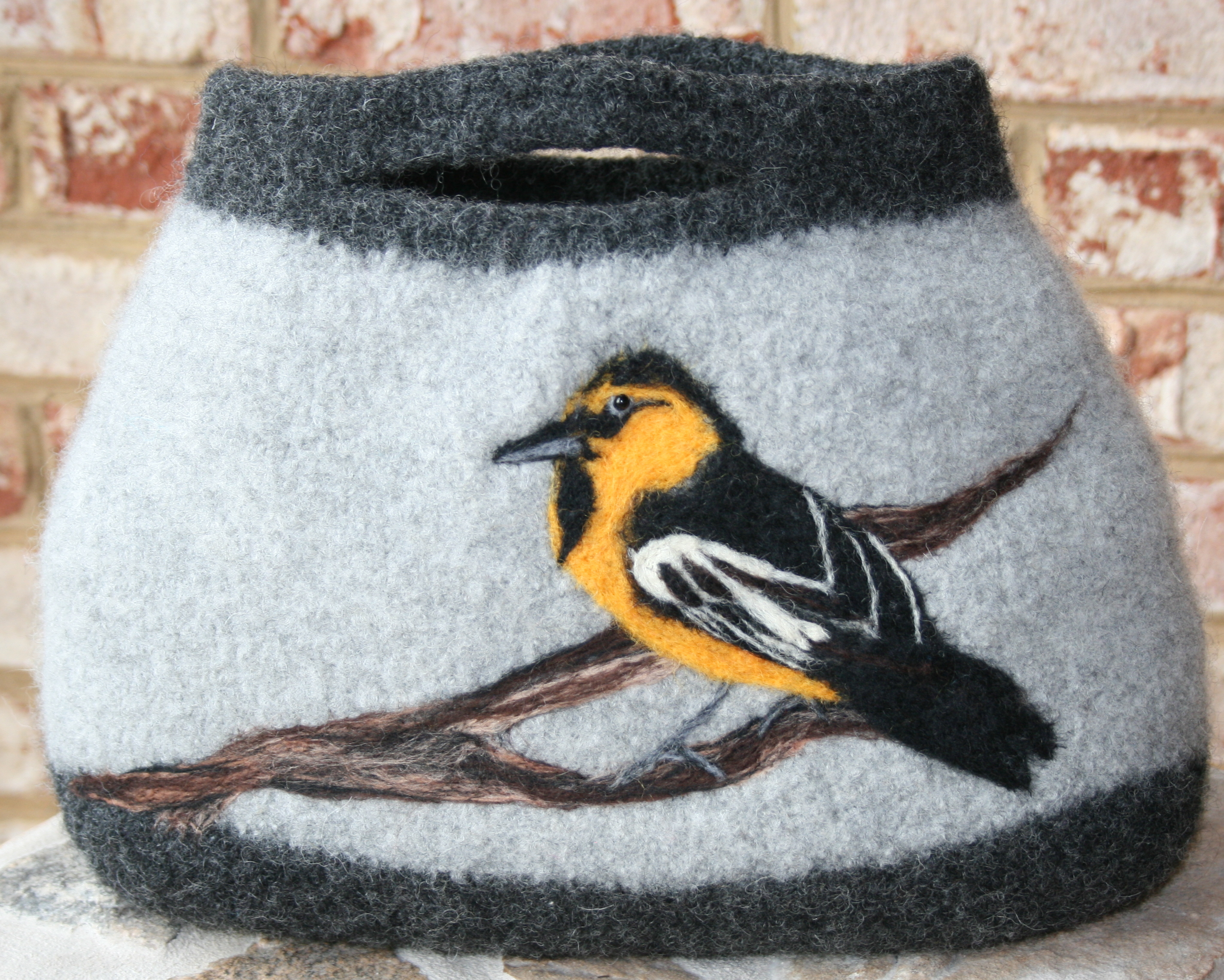 Gorgeous Knit and Fulled Purses with Needle Felted Designs ...