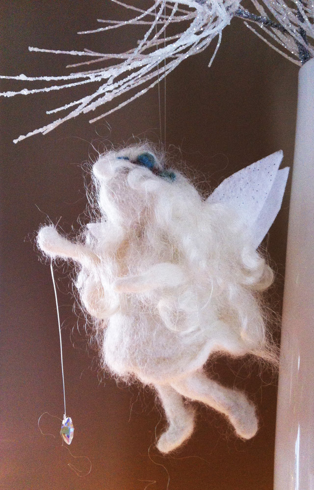 Needle Felted Winter Fairies