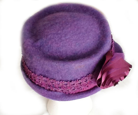 Needle and Wet Felted Hat