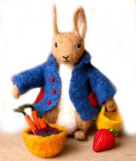 Needle Felted Mr Bunny by Jane Lendway