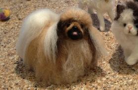 Needle Felted Dog Pomeranian