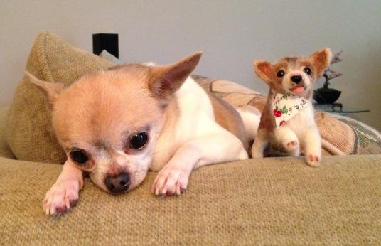 Needle Felted Dog Chihuahua