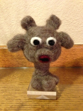 Needle Felted Monter Bust