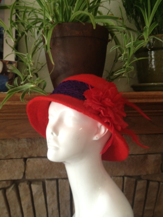Needle Felted Red Hat