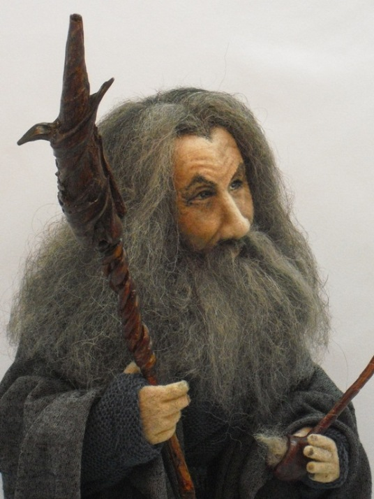 Needle Felted Gandalf Doll