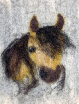 Wet Felted Horse