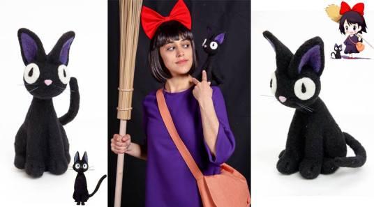 Needle Felted Black Cat - Costume