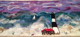 Nuno Needle and Wet Felt Lighthouse Shawl