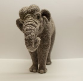 Needle Felted Elephant by Megan Nedds
