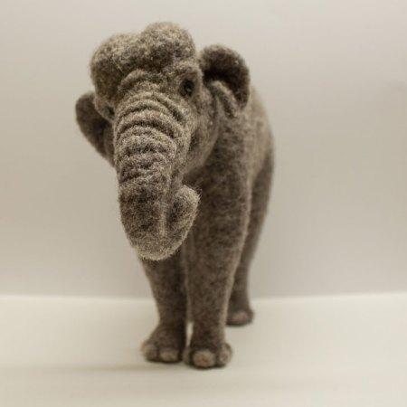 Needle Felted Elephant by Megan Nedds
