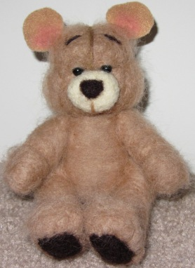 Needle Felted Tan Bear