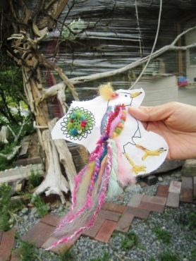Needle Felting Applique Workshop Bird