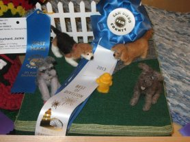 Needle Felting 1st Place at the San Diego Fair
