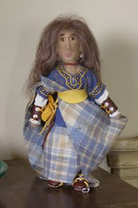 needle felted celtic doll
