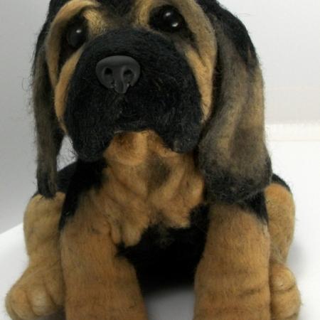 Puppy Bloodhound Needle Felted