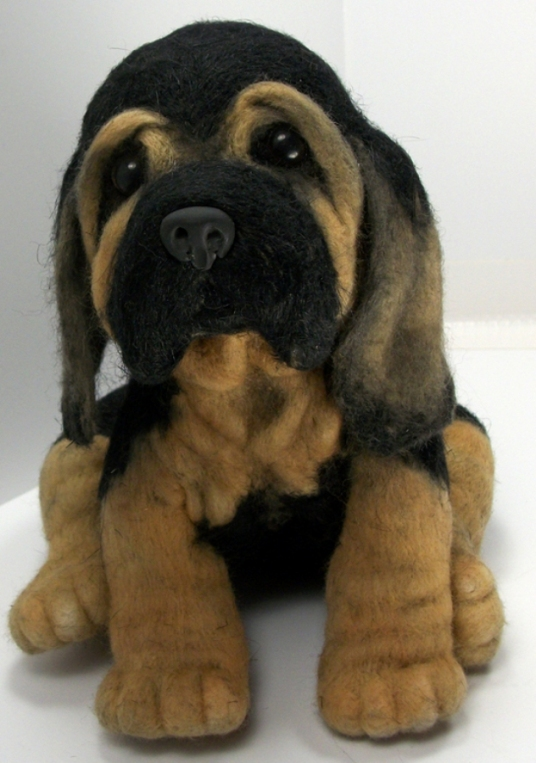 Puppy Bloodhound Needle Felted