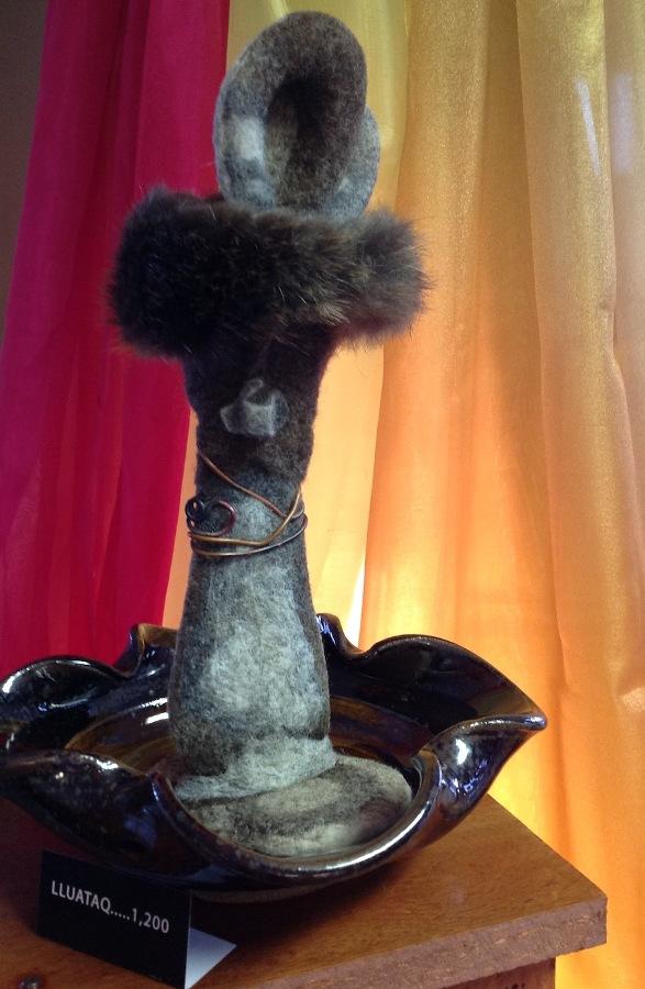 Native Alaskan Sculpture with Fur