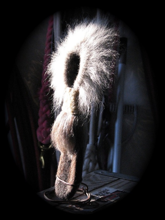 Native Alaskan Sculpture with Fur