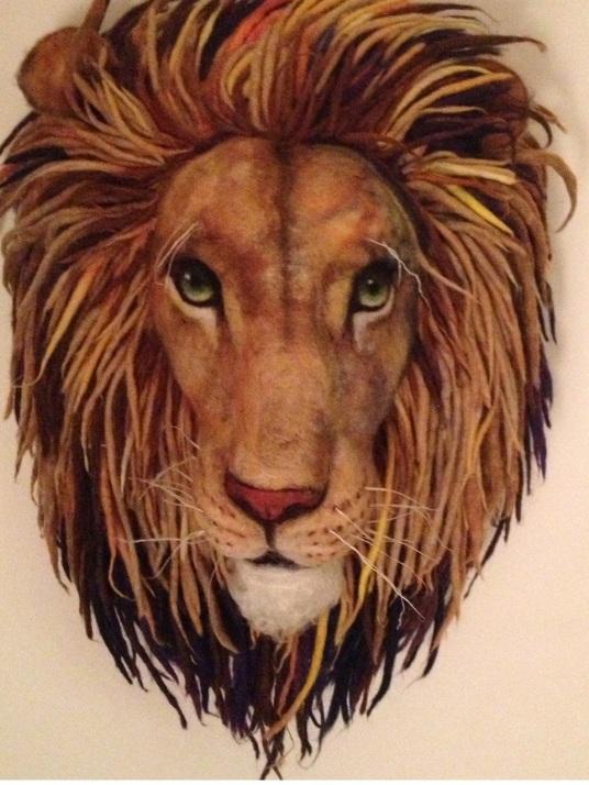 Needle Felted Lion Aslan