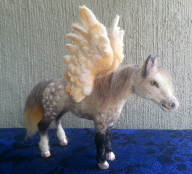 Needle Felted Pegasus