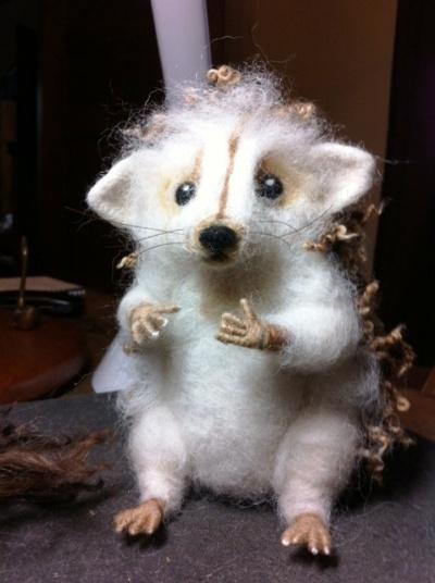 Miss Tiggy Winkle The Needle Felted Hedgehog