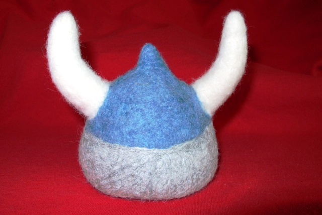 Needle Felted Viking Helmet