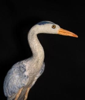Needle Felted Blue Heron