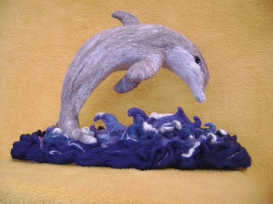 Needle Felted Dolphin