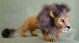 Needle Felted Lion