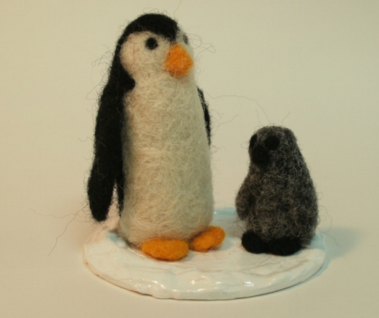 Needle Felted Penguins