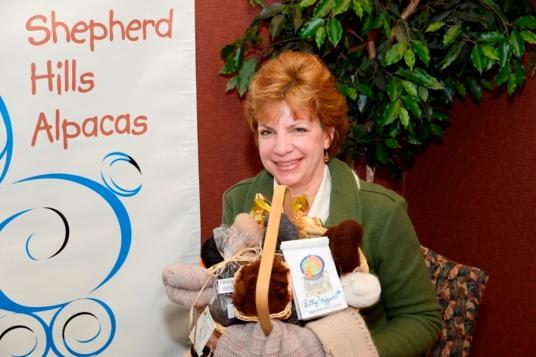 Diane Beauchner Holding Gnomes