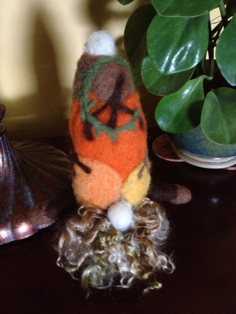 Needle Felted Autumn Gnome